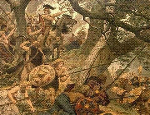 poraz rimskih legija u šumi u Teutoburgu