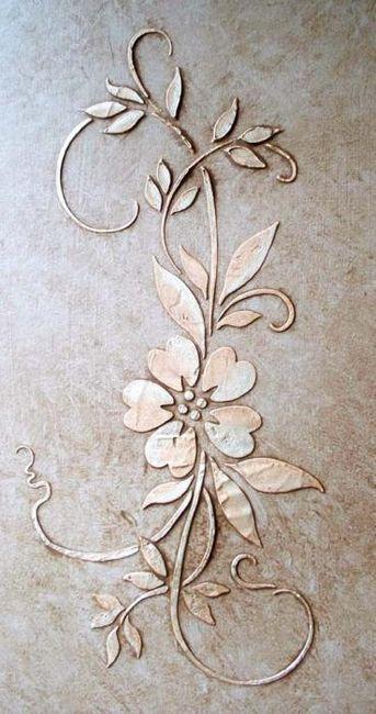 Cvjetni matrica na zidu