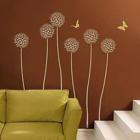 Stencil za zidne dekor cvijeće