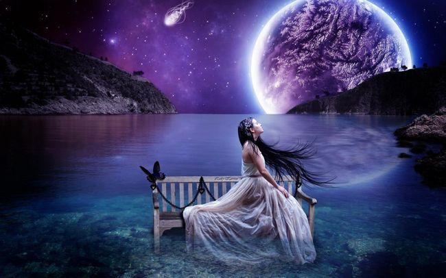 Mjesec i djevojka
