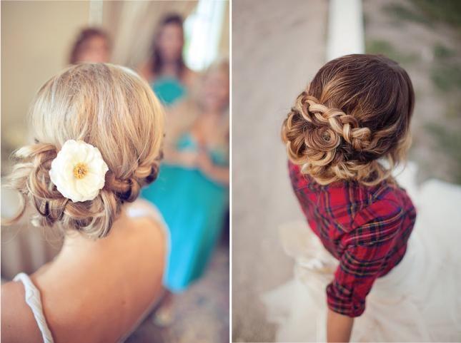 frizure pletenice za fotografije vjenčanja
