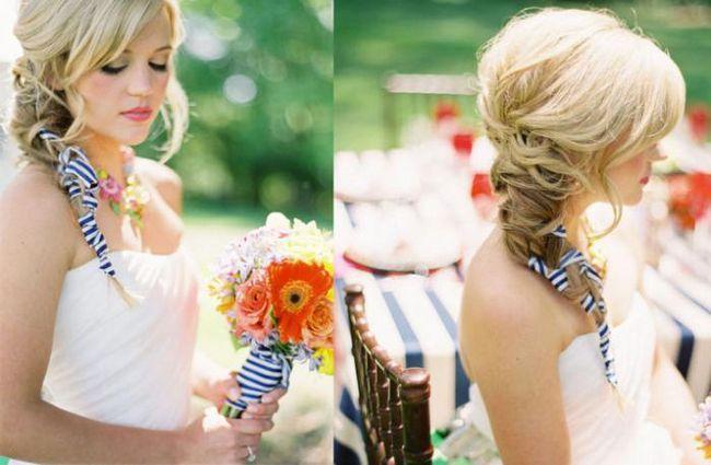lijepe pletenice za vjenčane fotografije