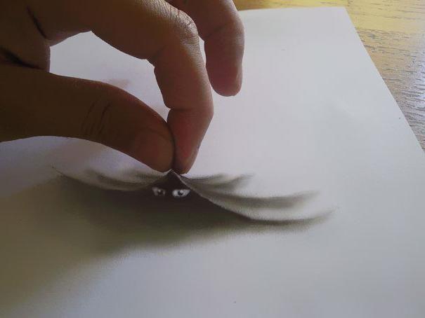 crteži na crtežu 3d na papiru