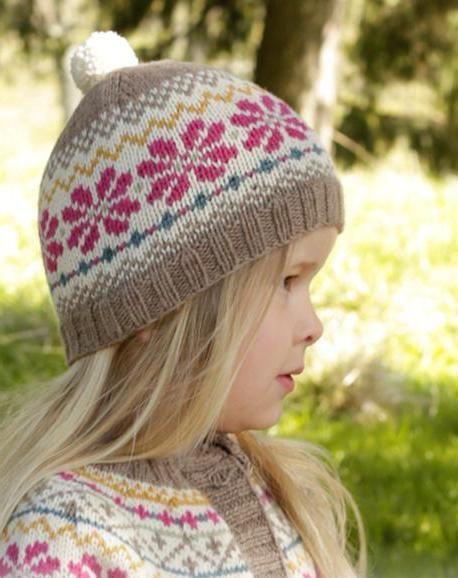 uzorak za djevojčinu šešir pletu