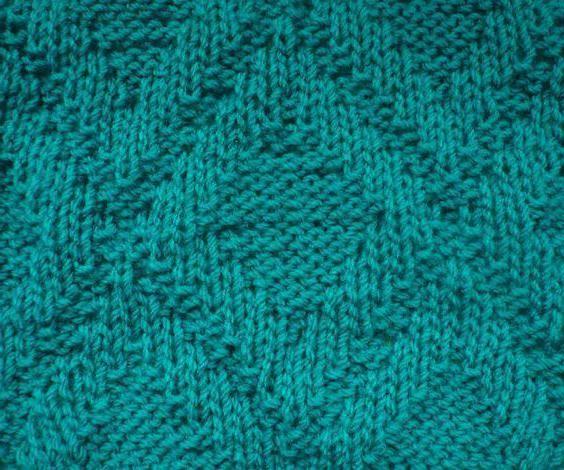 uzorak s prednje i stražnje petlje s iglama za pletenje
