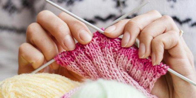 pletenje djece s iglama za pletenje s opisom