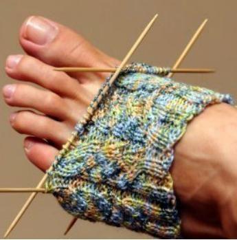 pletenje čarapa s iglama za pletenje za početnike