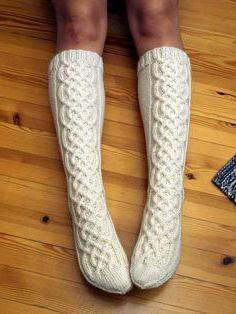 pleteni čarape s igličastim pletenim iglama