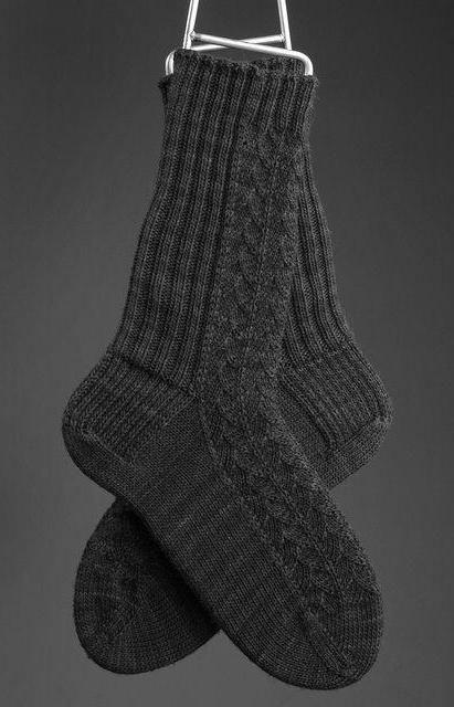 pletenje muških čarapa s iglom za pletenje