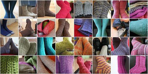 Pletene čarape s iglom za pletenje uz obrasce