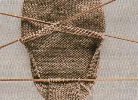 kako pletu prst na čepu s iglama za pletenje
