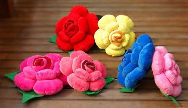 Выкройка подушки `роза` своими руками (фото)