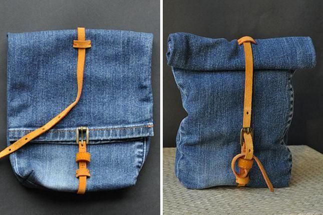 dječji ruksak traperica s vlastitim rukama