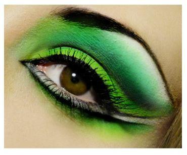 šminka oka s zelenim sjenama