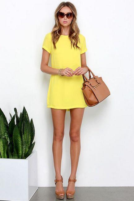 žuta haljina za novu godinu
