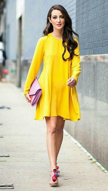 Povremena žuta haljina