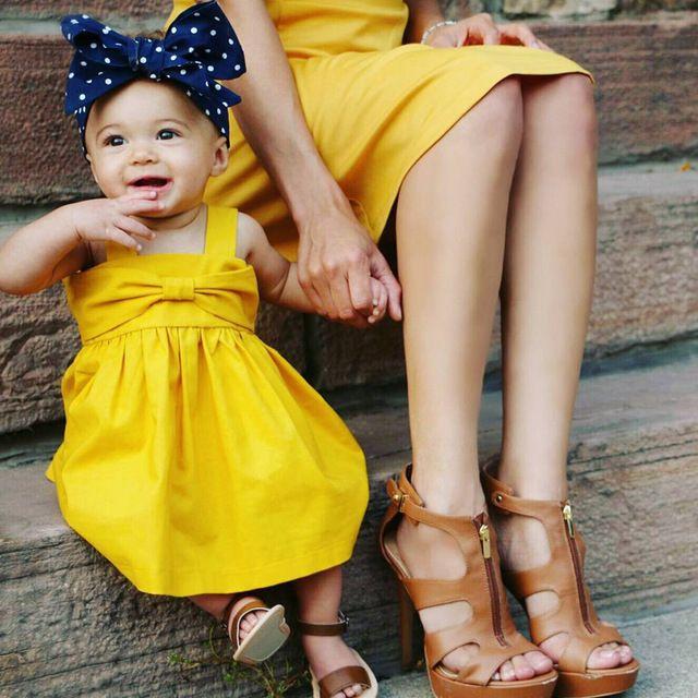 dječja žuta haljina