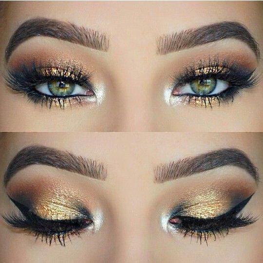 šminka sa zlatnim sjenama