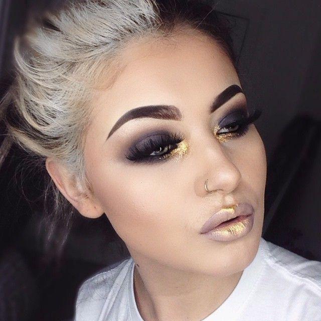 zlatna make-up fotografija